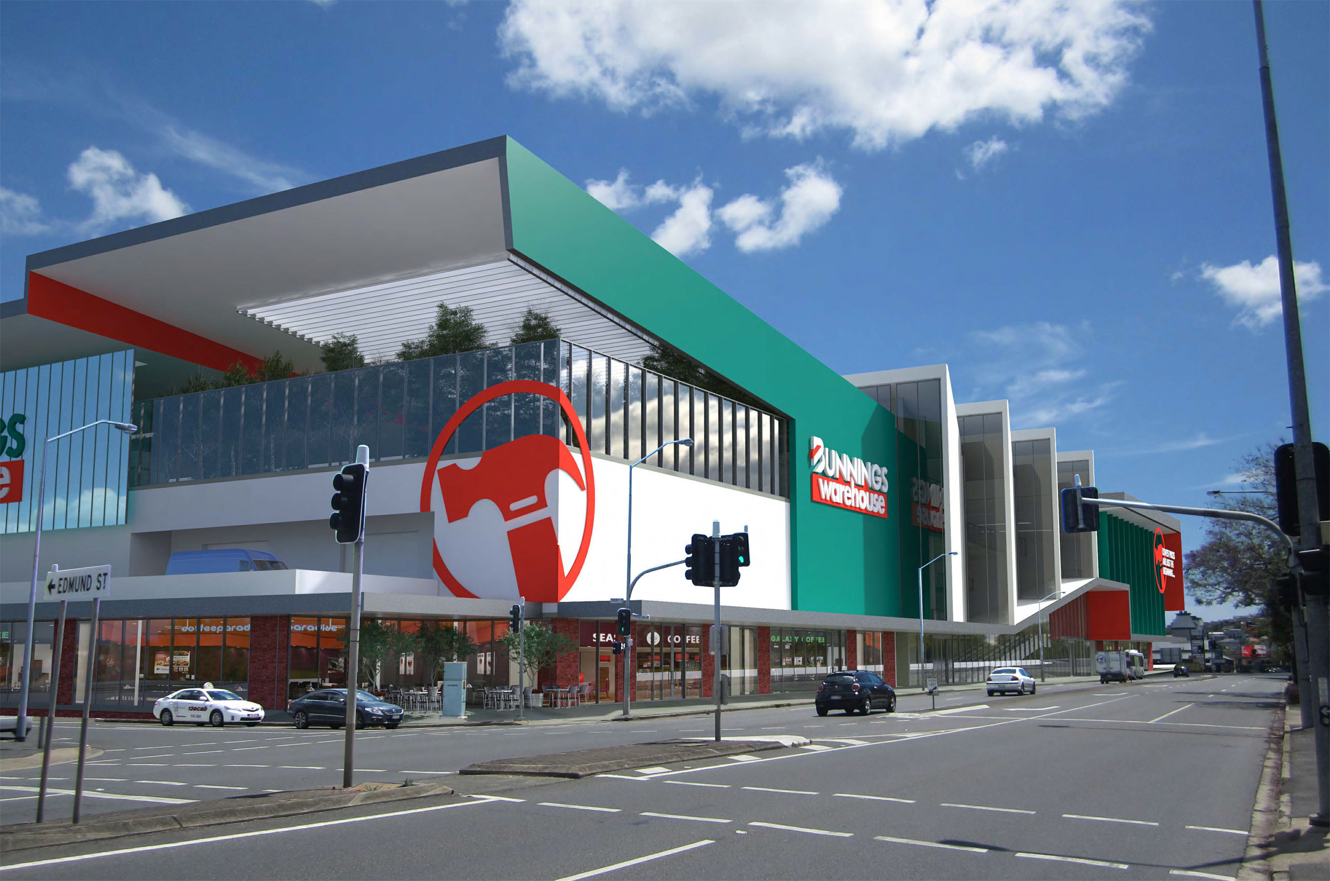 Mixed retail with bunnings proposed for newstead artists impression falaconquin