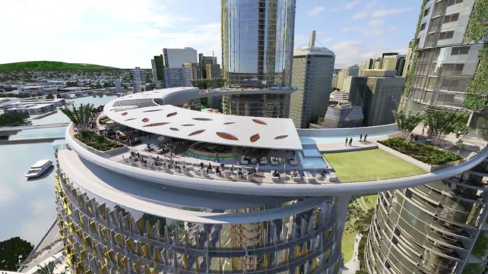 Artist's impression of Queens Wharf Skydeck