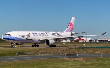 China Airlines at Brisbane Airport