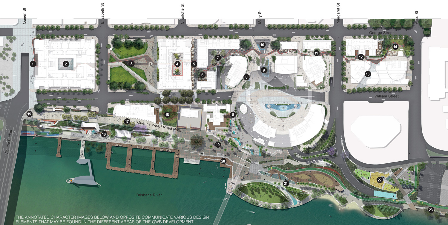 Queens Wharf Brisbane Map