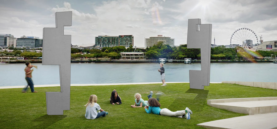 Artist's impression of an idea to recycle parts of Neville Bonner Building
