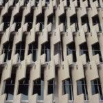 The Neville Bonner Building's sun shading concrete fins