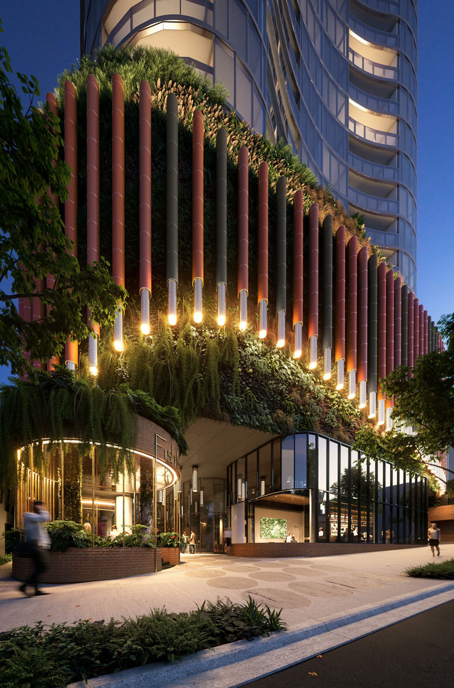 Artist's impression of Aria's proposed The Standard in South Brisbane