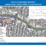 Brisbane City Council bike lane plan of Annerley Road to Gladstone Road