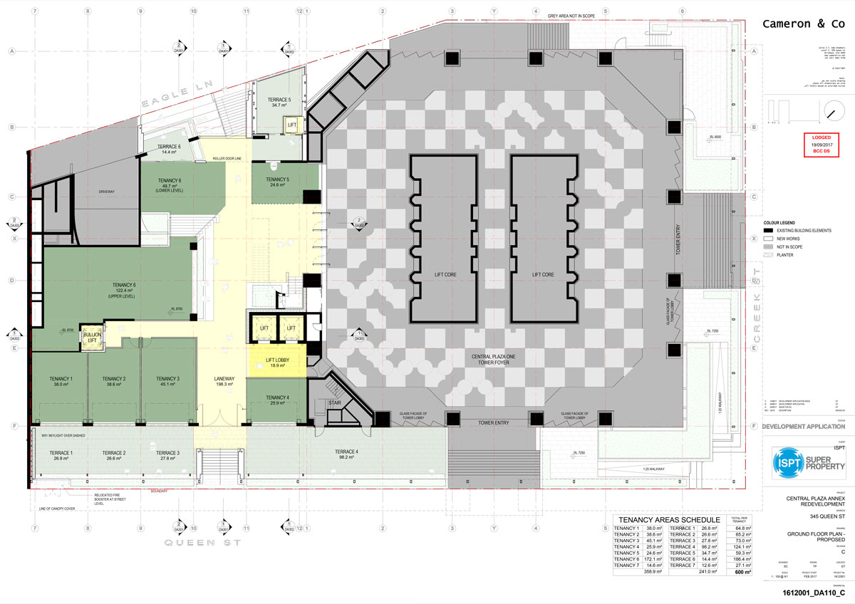 Proposed Basement Plans of Central Plaza Annex