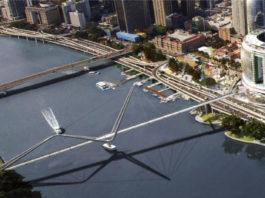 Artist's impression of proposed Neville Bonner Bridge
