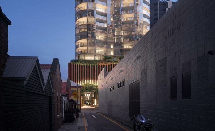 Artist's impression of Aria's proposed The Standard at 15 Manning Street development in South Brisbane
