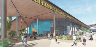 Artist's impression of Brisbane International Cruise Terminal. Source: Supplied