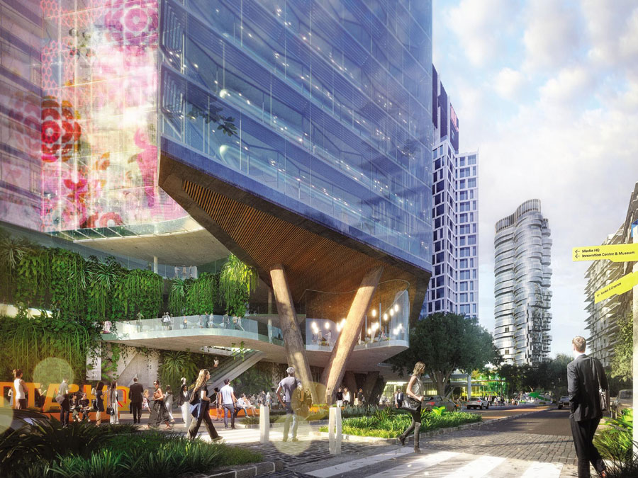 Artist's impression of News Corp's proposal for Millennium Square. Source: News Corp Australia