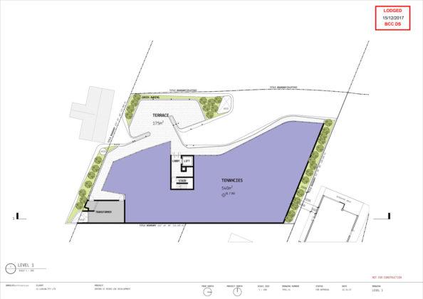 Level 1 plan of 2 Oxford Street, Bulimba