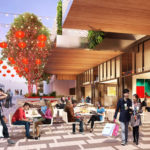 Artist's impression of proposed ground floor retail activation along the China Town Mall