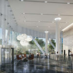 Artist's impression of proposed 152 Wharf Street commercial tower lobby