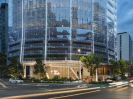Artist's impression of proposed 152 Wharf Street commercial tower