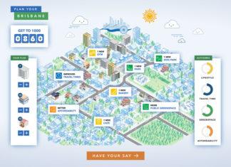 Screenshot of new Brisbane City Council urban planning game