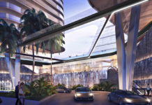 Artist's impression of River Terrace building Porte Cochere