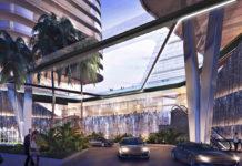 Artist's impression of River Terrace building Porte Cochere