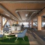 Artist's impression of 25 King Street internal office space in Bowen Hills