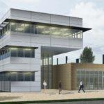 Artist's impression of administration building