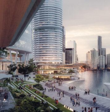 Artist's impression of Dexus' proposed future Eagle Street Pier