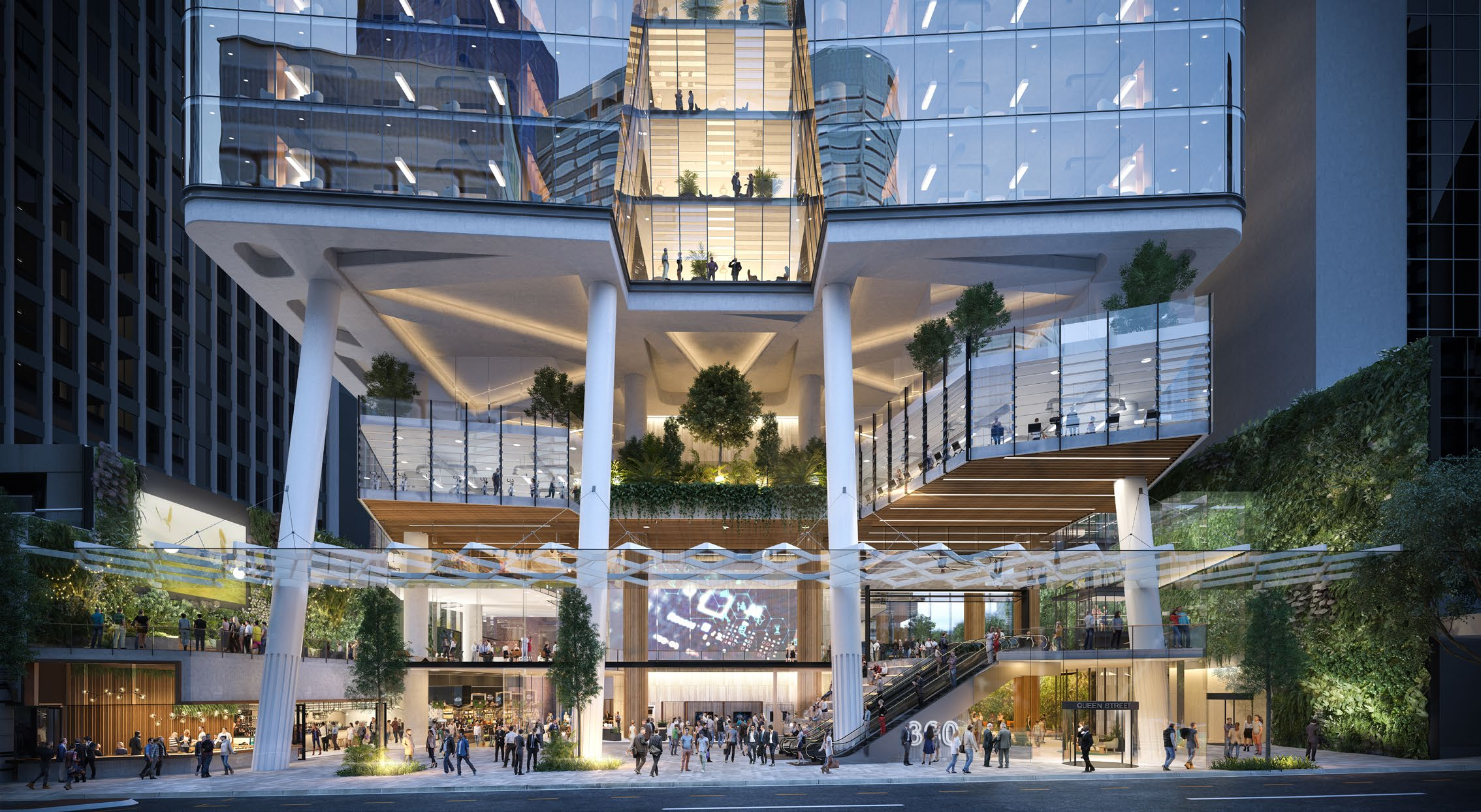 Artist's impression of 360 Queen Street commercial tower proposal