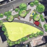 Preliminary plan of new Milton Urban Common Park