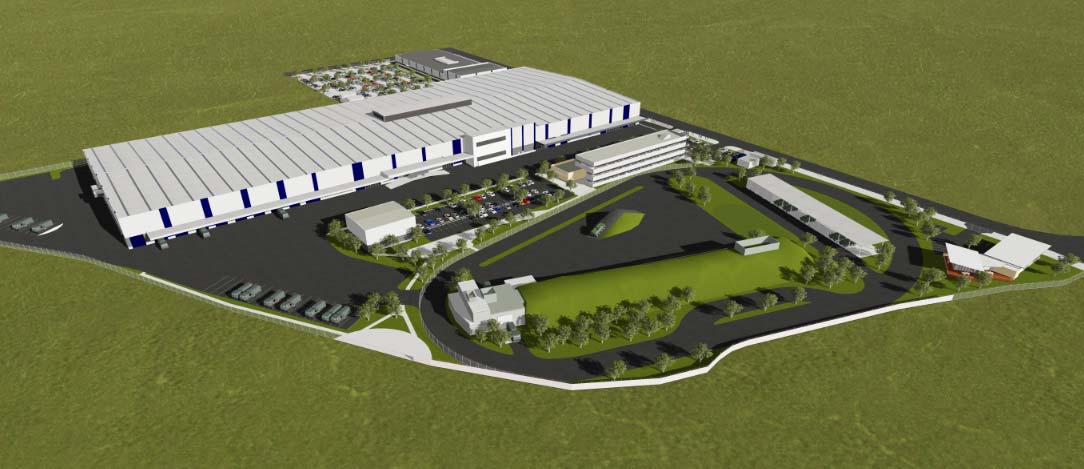 Artist's impression of Rheinmetall's Military Vehicle Centre of Excellence facility