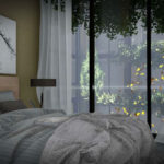 Artist's impression of interior bedrooms
