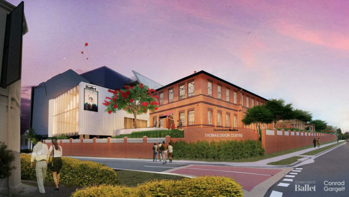 Artist's impression of Queensland Ballet's Thomas Dixon headquarters redevelopment
