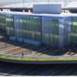Artist's impression of revamped Gabba stadium exterior