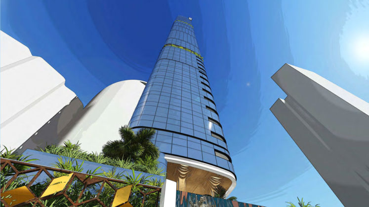 External artist's impression of proposed Class tower Broadbeach
