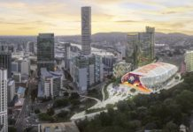 Updated rendering of Brisbane Live complex. Image: Supplied (June 2018)