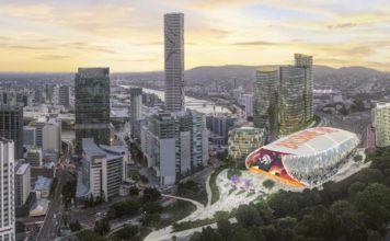 Updated rendering of Brisbane Live complex. Image: Supplied (June 2018)