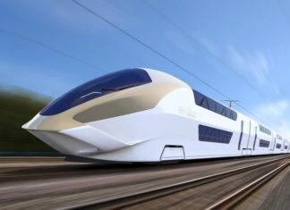 Artist's impression of a High Speed Rail concept design by Andreas Vogler Studio