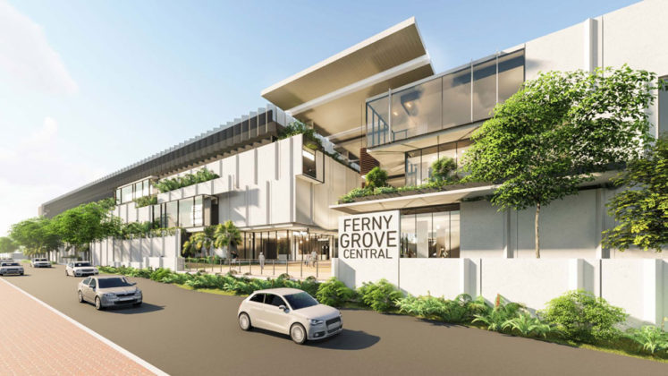 Artist's impression of the proposed Ferny Grove Central