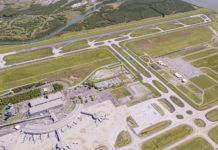 Artist's impression of Brisbane's new runway upon completion