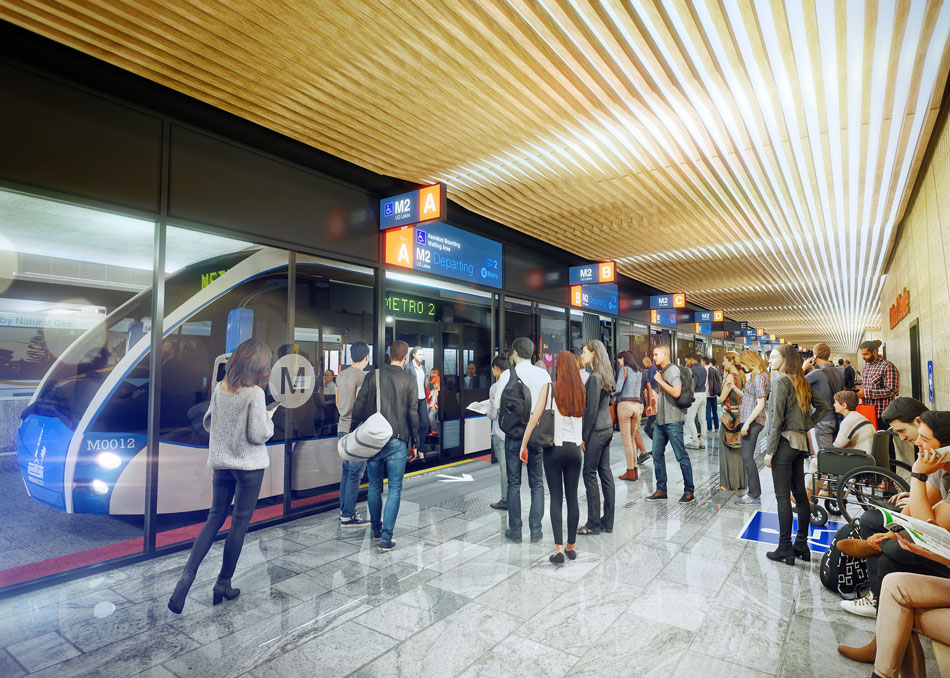 Artist's impression of the newly constructed underground South Bank station