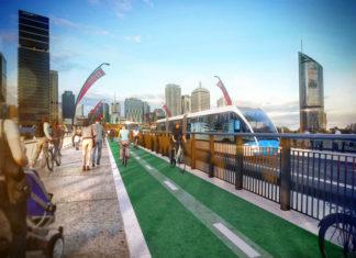 Artist's impression of newly reconfigured Victoria Bridge design