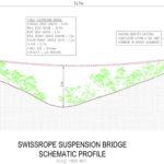 Diagram of proposed suspension bridge