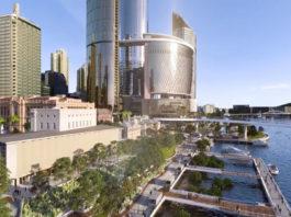 Screenshot taken from Destination Brisbane Consortium's updated Queen's Wharf Flythrough