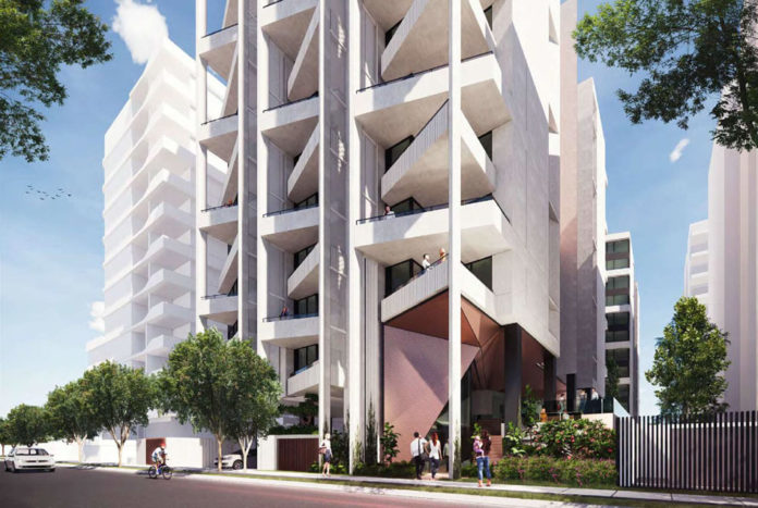 Artist's impression of Wolseley & Carl Street Woolloongabba
