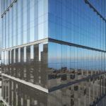 Artist's impression of 895 Ann Street's glass curtain facade