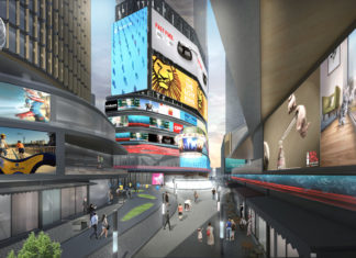 Artist's impression of conceptual Myer Redevelopment