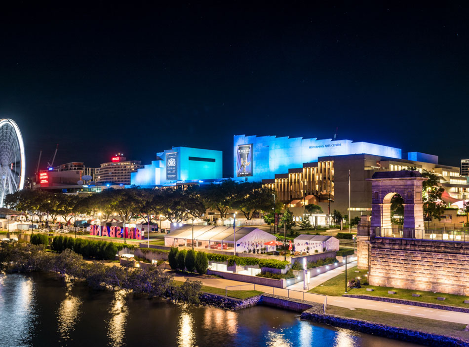 Image of QPAC from the Victoria Bridge