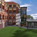 Artist's impression of Edith Cavell Building restoration