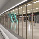 Artist's impression of Albert Street station platform
