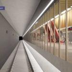 Artist's impression of Roma Street station platform