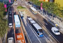Artist's impression of Adelaide Street Brisbane Metro tunnel portal