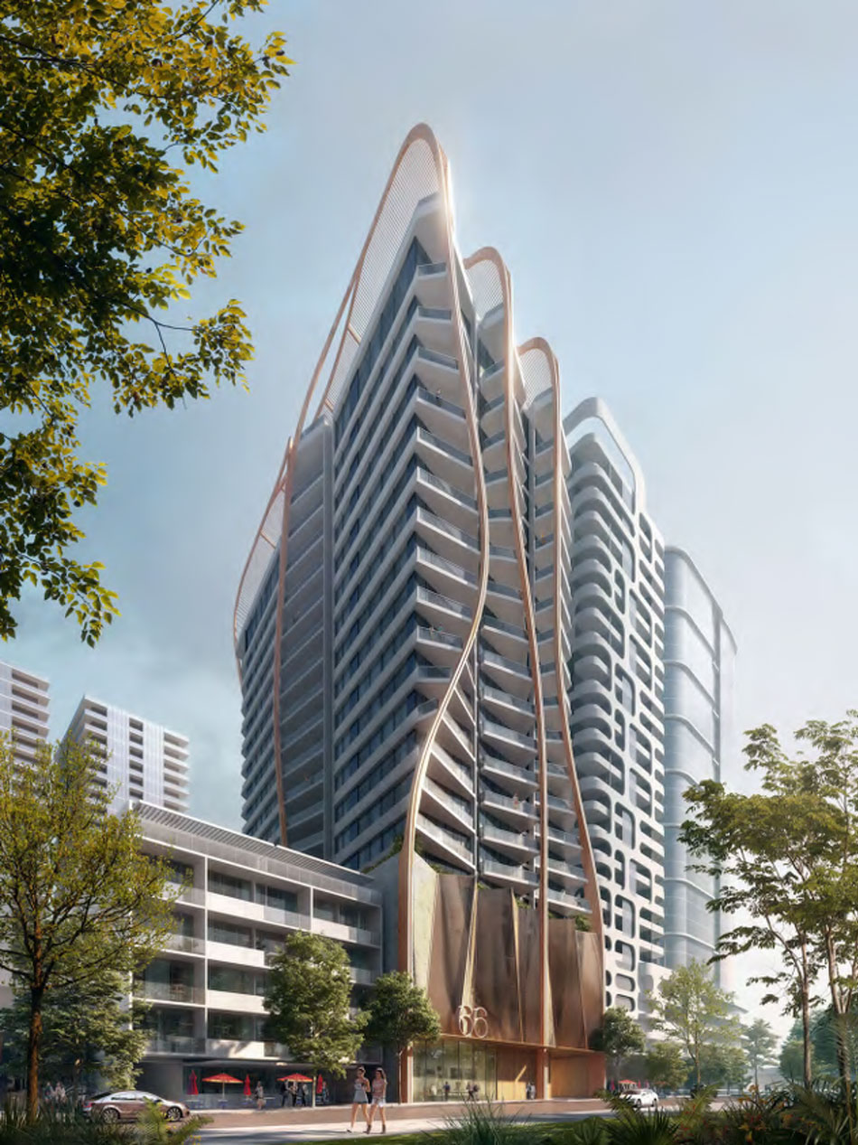 Artist's impression of Aria's 66 Hope Street