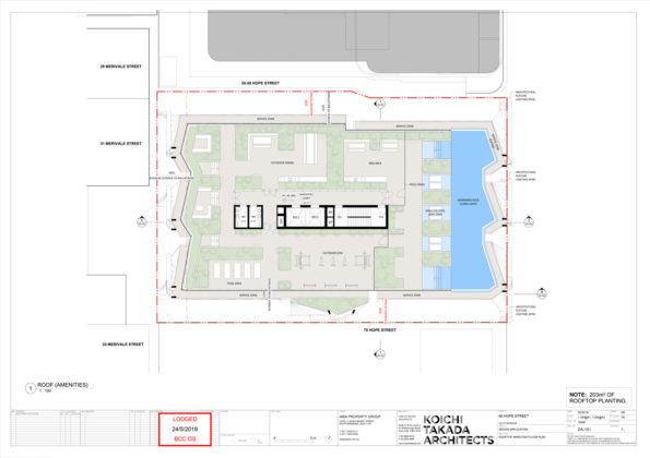 Rooftop floor plan