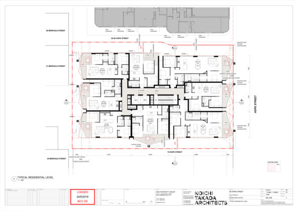 Typical apartment floor plan